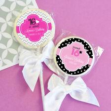 96 Sweet 16/15 Birthday Lollipops Personalized Lollipop Birthday Party Favors