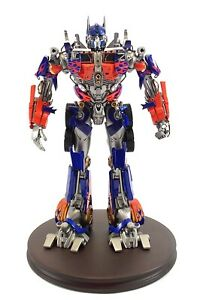 "12"" Sideshow Collectibles Popbox 2007 Transformers Optimus Prime Convoy Statue"