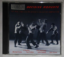 CCMC DECISIVE MOMENTS HOT REAL-TIME ELECTRO-ACOUSTIC COLLECTIVE COMPOSITION CD