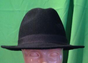 Cappello Falda Borsalino Bogart-nero 100% feltro lana Made in Italy varie taglie
