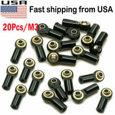 20Pcs M3 Metal Ball Head Holder Tie Rods End CW For 1:10 RC Crawler Boat Car US