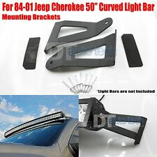 84-01 Cherokee 50 Inch Curved LED Light Bar Upper Windshield Mounting Brackets