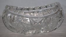 Formal Dining Early Pattern Boat Bowl Cut And Polished Crystal