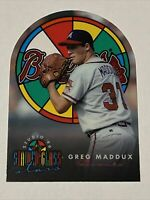 🔥SHARP🔥 1996 Donruss STUDIO Baseball GREG MADDUX STAINED GLASS, Braves HOFER