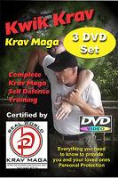 """""""KWIK KRAV 3 DVD Set"""" Plus KRAV MAGA """"WORK OUT ROUTINE""""  Video"""