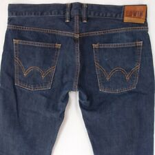 Mens EDWIN SK505 Straight Blue Selvage Jeans W34 L32