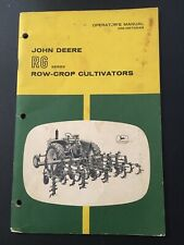 John Deere Rg Row Crop Cultivators Operators Manual Om-N97654N