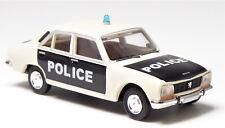 H0 BREKINA Personenkraftwagen Peugot 504 POLICE POLIZEI POLITI Blaulicht # 29108