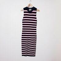 White Closet NWT RRP$74.99 Size 12 Red Navy Striped Maxi Tank Dress