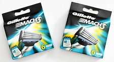12x Gillette MACH 3 Rasierklingen Ersatz-Klingen NEU