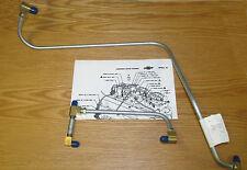 1957 CHEVY STEEL FUEL LINE PUMP TO CARBURETOR DUAL QUAD 2x4 DUAL 4 BARRELS  NEW
