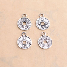 Tibetan Silver Ancient Chinese Coin Charm Bracelet Necklace Pendant Findings #90