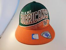 purchase cheap a9721 0d03c Miami Hurricanes Hat Snapback Spell Out Top of The World NEW w o TAG Wool