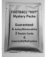 *RARE* FOOTBALL HOT PACKS 1st EDITION! 4 Autos or Jerseys/4 inserts/2 RCs PACK