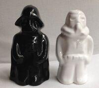 VINTAGE RARE Star Wars Salt & Pepper Shakers Darth Vader & Stormtrooper IN BOX