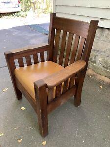 Harden Mission Oak Arts and Crafts Arm Chair 1905 Stickley Era