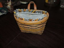 Woven Basket Carnation Baskets Brand Handmade & Leather Strap For Hanging W/Line