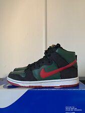 Nike Dunk High Premium SB Resn Gucci 10 44 Rare QS Green Red Denim