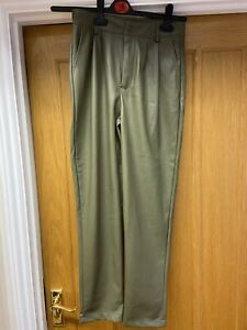 Ladies Green Polyester Coated Trousers From PRIMARK UK 8 VGC