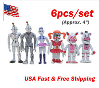 6PCS Five Nights At Freddy's FNAF Sister location Action Figures Toys