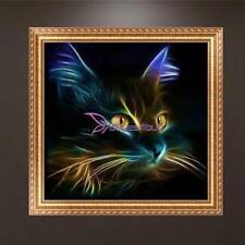 DIY 5D Diamond Painting Embroidery Cat Rhinestone Cross Crafts Stitch Kit Decor