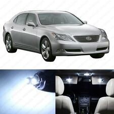 9 x Xenon White LED Interior Lights Package For 2007 - 2012 Lexus LS460