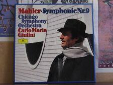 MAHLER SYMPHONIE NR 9, GIULINI - DGG 2 LP 2707097