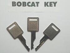 (3) Bobcat Skidsteer Key, fits Case Excavator Heavy Equipment Ignition Key