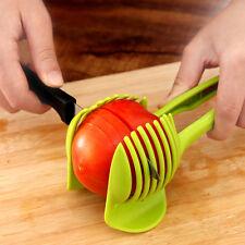 1X Corte de Fruta Herramienta Perfecta a Rebanar Tomate Patata Cebolla Cortador