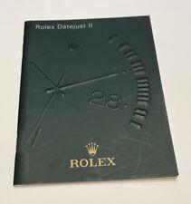 LIVRET / BOOKLET ROLEX DE 2010 EN FRANCAIS : ROLEX DATEJUST II WATCH @ BEL ETAT