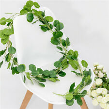 2m Artificial Eucalyptus Leaves Vine Hanging Garland Foliage Wedding Party