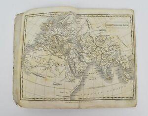 Rare George IV Grand Tour pocket atlas of the world – 1827