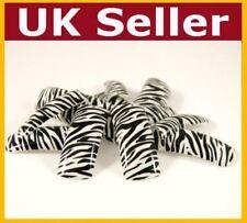 Uñas falsas falso francés Completo Consejos De Uñas Glitter Zebra Acrílico artificial Uv