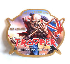 IRON MAIDEN TROOPER BEER PUMP CLIP unused comes with bag, rock metal music RARE