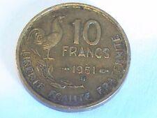 1951 NICE FRANCE 10 FRANCS COIN Republique Francaise