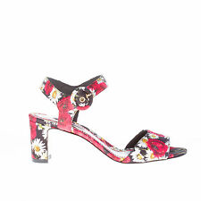 DOLCE & GABBANA scarpe donna women shoes sandalo broccato multicolore fiori