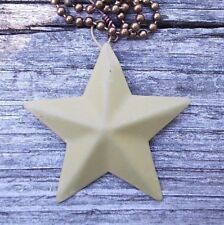 Primitive Barn Star Fan Pull Light Chain Rustic Y