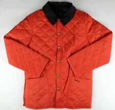 Barbour Quilted Liddesdale Orange Jacket Size: XS