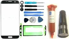 Front Outer Glass Screen Replacement Repair Kit Samsung Galaxy S7 Edge UV Black