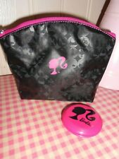 Official Barbie Wash Bag Make Up Makeup Cosmetic Toiletry Bag COMPACT mirror