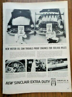 1956 Sinclair Oil Ad  New Motor Oil Can Trouble-Proof Engines for 100,000 Miles