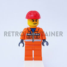 LEGO Minifigures - 1x cty137 - Construction Worker - Omino Minifig Set Book Gear