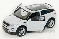 Range Rover Evoque white, Welly 43649, scale 1:34-39, model toy car gift
