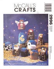 Nativity Christmas Fabric Ornament Wallhanging Craft McCalls Pattern 2996 Uncut