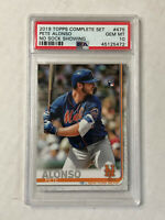 PETE ALONSO 2019 Topps Complete Set RC #475! PSA GEM MINT 10! NO SOCK SHOWING SP