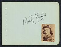 Betty Field (d. 1973) signed autograph 4x5 Album Page Actress: Bus Stop (1956)