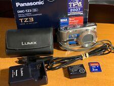 Panasonic LUMIX DMC-TZ3 7.2MP Digital Camera - Silver - MINT