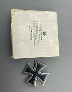 Eisernes Kreuz 1.Klasse 1914 im Pappetui das von Louis Werner, selten (5871x)