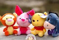 Winnie The Pooh & Friends Tigger Eeyore Piglet cute 18cm Plush toys Pooh Bear