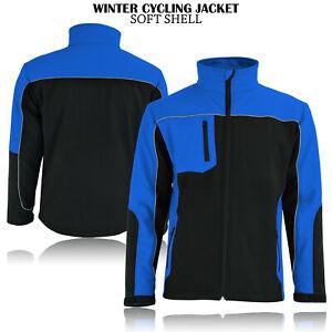 Unisex Soft Shell Fleece Lined Water Repellant Windproof Outdoor Work Jacket UK